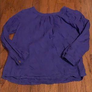 J. Crew linen blouse